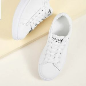 White Platform Sneakers New Without Box